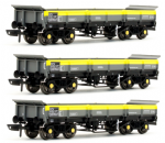 4F-043-010(3) Dapol Turbot Bogie Ballast Wagons Engineers Dutchpack of 3